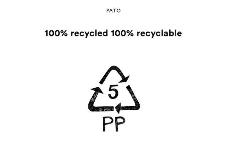 PATO リサイクルでできた椅子